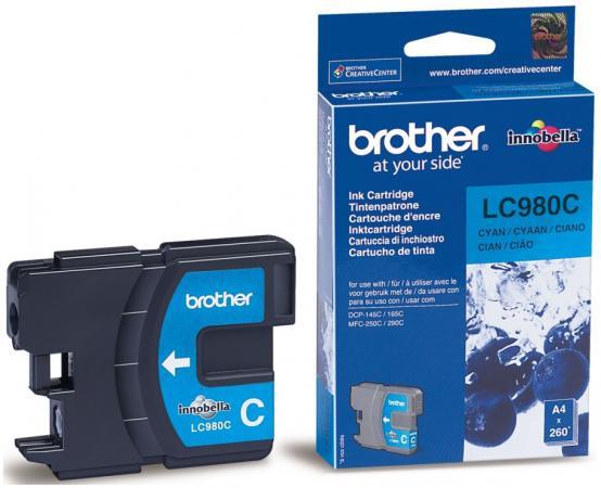 Картридж Brother LC980C для DCP-145 165 195 365 375 MFC-250 255 290 голубой brother lc 980 magenta