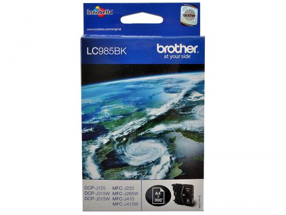 Картридж Brother LC985BK для DCPJ315W DCPJ515W MFCJ265W Черный brother lc985bk