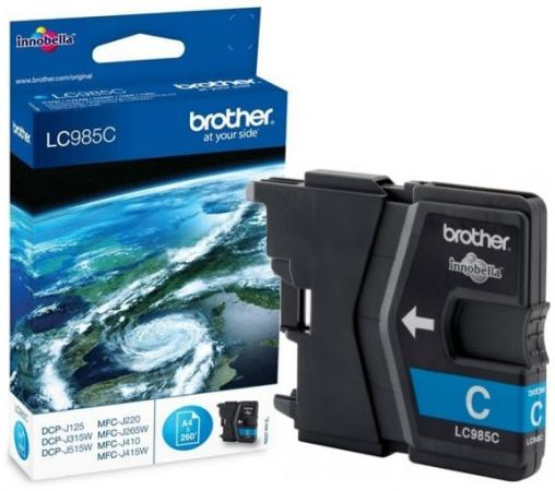 Картридж Brother LC985C для DCPJ315W DCPJ515W MFCJ265W Голубой brother artwork 22