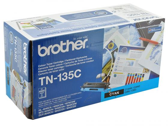 Фото - Картридж Brother TN-135C голубой для HL-4040CN 4050CDN DCP-9040CN MFC-9440CN 4000 стр тонер картридж 7q tn 325c для brother hl 4150 голубой 3500 стр