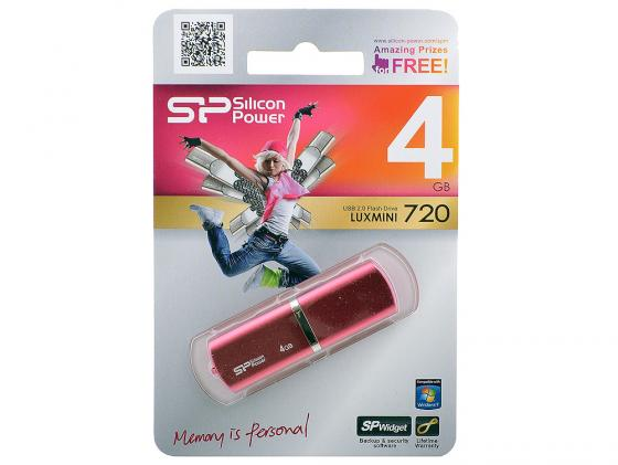 Флешка USB 4Gb Silicon Power lux mini series 720 SP004GBUF2720V1H розовый