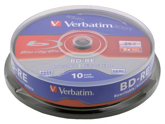 все цены на Диски BluRay Verbatim BD-RE 25Gb 2x CakeBox 10шт 43694 онлайн