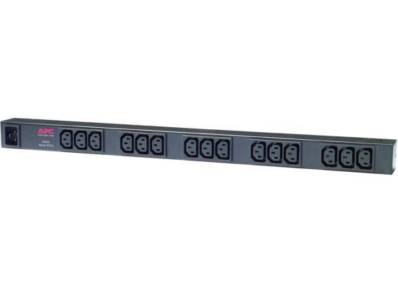 Блок розеток APC Basic Rack PDU AP9572 15 розеток 2.5 черный блок розеток apc rack pdu extender basic 2u 32a 230v 4 iec c19 ap7585