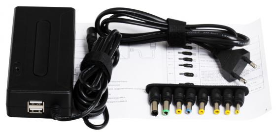 Блок питания для ноутбука GINZZU GA-1090U 90Вт 2xUSB 12В-24В 8 DC-IN переходников сила тока 4.5А