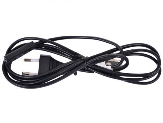 Кабель питания для ноутбуков аудио/видео техники 2pin 0.5м 2.5А Gembird PC-184-VDE-0.5М кабель питания для ноутбуков аудио видео техники gembird pc 184 vde 1 8м 1 8м