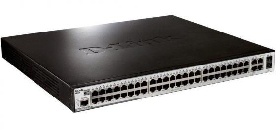 Коммутатор D-LINK DES-3200-52P управляемый 48 портов 10/100Mbps 2xSFP 2x combo GbLAN/SFP PoE коммутатор cisco sf220 48 управляемый 48 портов 10 100mbps 2xsfp