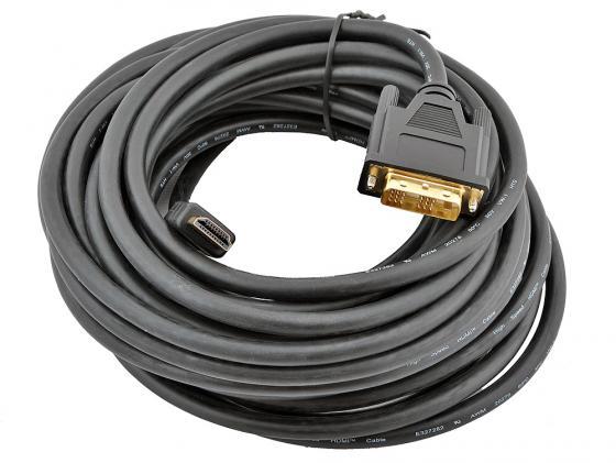 Кабель HDMI-DVI 10м Gembird CC-HDMI-DVI-10MC экранированый кабель hdmi 10м gembird cc hdmi 10m круглый черный