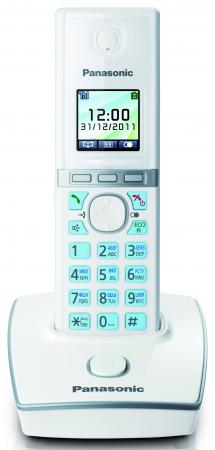 Радиотелефон DECT Panasonic KX-TG8051RUW белый радиотелефон dect panasonic kx tgh212rub дополнительная трубка kx tgha20 черный
