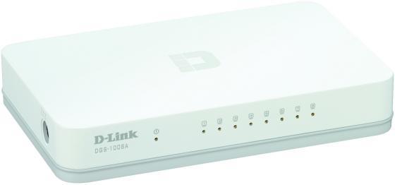 Коммутатор D-LINK DGS-1008A неуправляемый 8 портов 10/100/1000Mbps d link dgs 3120 24tc