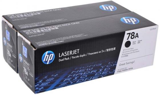 купить Картридж HP CE278AF №78А для LaserJet 1566 1606dn 1536dnf двойная упаковка по цене 9440 рублей