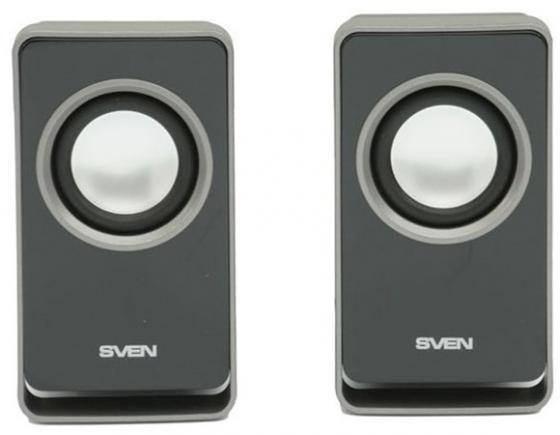 Колонки Sven 355 2x3Вт ABS-пластик черный колонки sven 355 5 вт чёрный