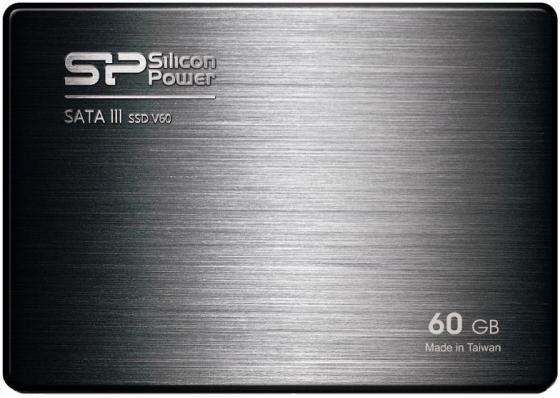 Твердотельный накопитель SSD 2.5 60 Gb Silicon Power Velox V60 SP060GBSS3V60S25 Read 550Mb/s Write 500Mb/s MLC