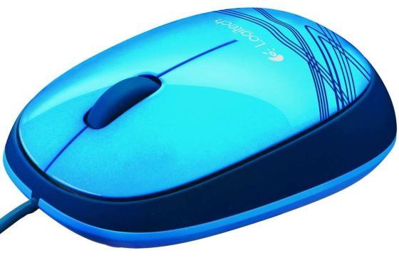 все цены на Мышь проводная Logitech M105 синий USB 910-003119/910-003105 онлайн