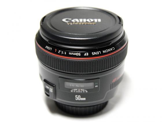 Объектив Canon EF 50mm f/1.2L USM 1257B005 объектив canon ef 24mm f 2 8 is usm черный