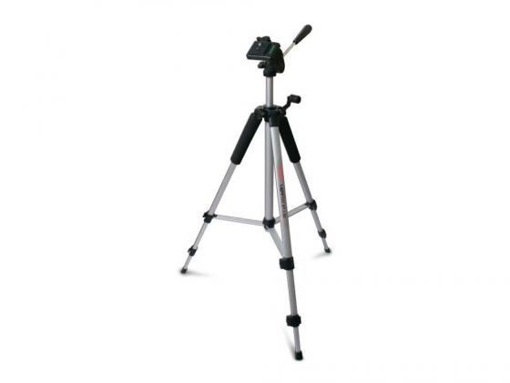 Штатив Rekam RT-L32G напольный трипод 3D-головка до 136.5 см нагрузка до 3 кг серый штатив rekam lightpod rt l31g