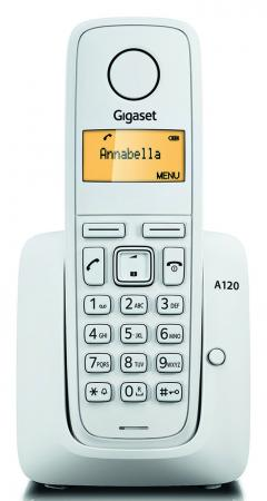 Фото Радиотелефон DECT Gigaset A120 белый радиотелефон dect gigaset a220 белый