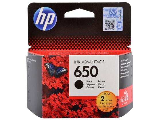 Картридж HP CZ101AE №650 для DJ IA 2515 2516 черный картридж hp 650 ink advantage cz101ae black для 2515 2516 3515 3516