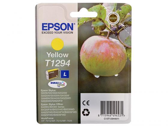 Фото - Картридж Epson C13T12944011/C13T12944021 для Epson Stylus SX420/425/525WD/B42WD/BX320FW желтый картридж epson c13t15944010 t1594 для epson stylus photo r2000 желтый