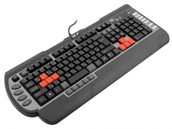 лучшая цена Клавиатура проводная A4TECH X7-G800V USB черный