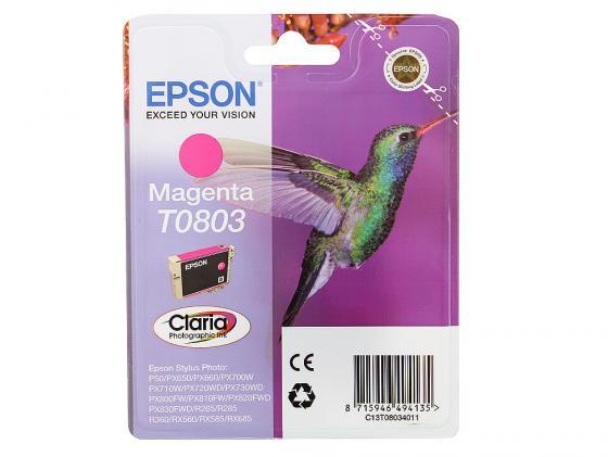 цена на Картридж Epson C13T08034011 / C13T08034021 для Epson Stylus Photo P50/PX660/PX720WD пурпурный