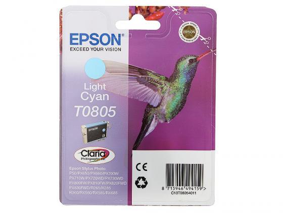 Картридж Epson C13T08054011/C13T08054021 для P50 PX660 Light Cyan Светло-Голубой Т0805