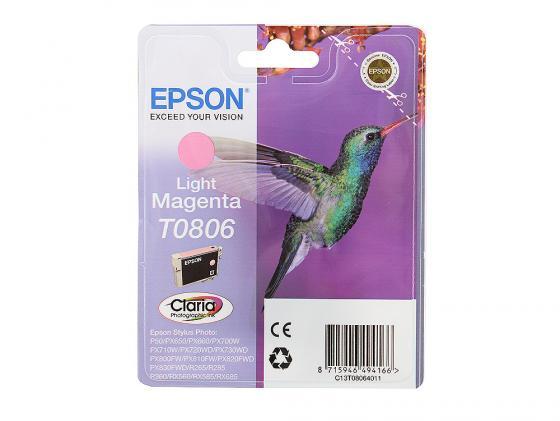 Картридж Epson C13T08064011 / C13T08064021 для P50 PX660 Light Magenta Светло-Пурпурный