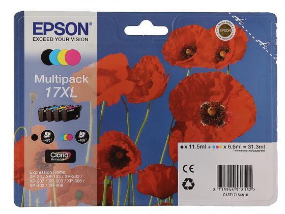 набор картриджей epson t1295 multipack c13t12954010 Набор картриджей Epson C13T17164A10 XL Multipack для XP33/203/303 4шт цветной