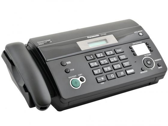 Факс Panasonic KX-FT984RUB термобумага черный panasonic kx tg6821 rub черный