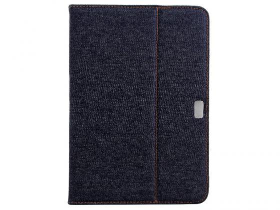 Чехол IT BAGGAGE для планшета Samsung Galaxy Note 10.1 N8000 искусcтвенная кожа Jeans черно-синий ITSSGN108-3