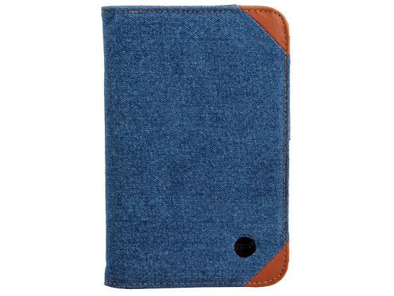 Чехол IT BAGGAGE для планшета Samsung Galaxy tab 7 P3100/P3110 искусственная кожа Jeans черный/синий ITSSGT7208-4