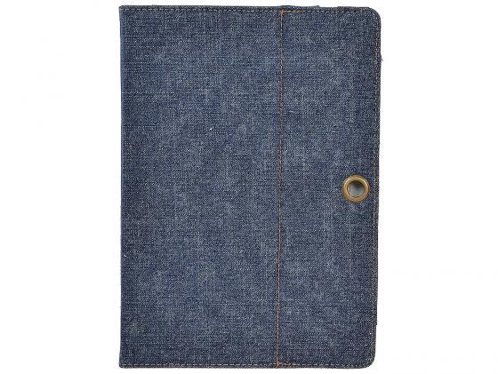 Чехол IT BAGGAGE для планшета ASUS TF300 искусcтвенная кожа Jeans черный/синий ITASTF308-4