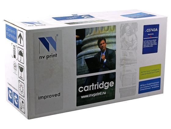 Фото - Картридж NV-Print CE743A пурпурный для HP Color LJ CP5220 картридж nv print ce741a голубой для hp color lj cp5220