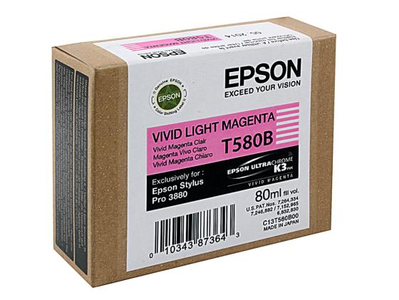 Картридж Epson C13T580B00 для Epson Stylus Pro 3880 Vivid Light Magenta pro svet light mini par led 312 ir