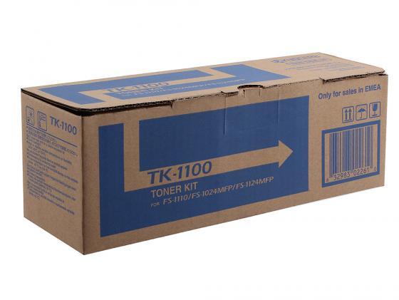 Картридж Kyocera TK-1100 для FS 1024MFP 1124MFP 1110 черный 2100стр лазерный картридж kyocera tk 710 для fs 9130dn 9530dn черный
