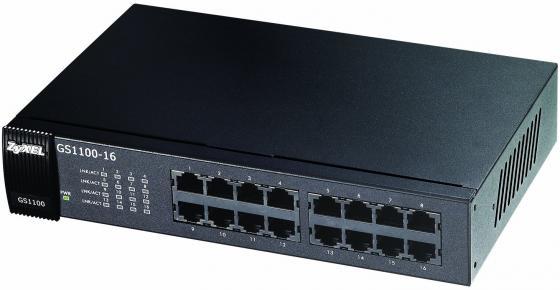 купить Коммутатор Zyxel GS1100-16 неуправляемый 16 портов 10/100/1000Mbps онлайн