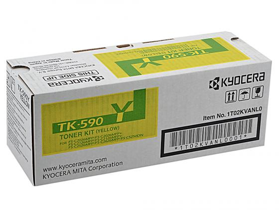 Картридж Kyocera TK-590Y желтый для FS-C5250DN C2026MFP C2126MFP C2526MFP C2626MFP new original kyocera 302kv94210 drive feed assy for fs c5150dn c5250dn c2026mfp c2126mfp