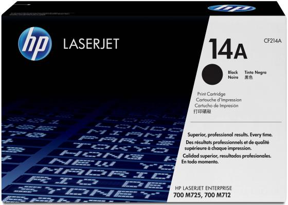 Картридж HP CF214A 14A для LaserJet Enterprise 700 Printer M712dn M712xh черный 10000стр принтер лазерный hp laserjet enterprise 700 printer m712dn