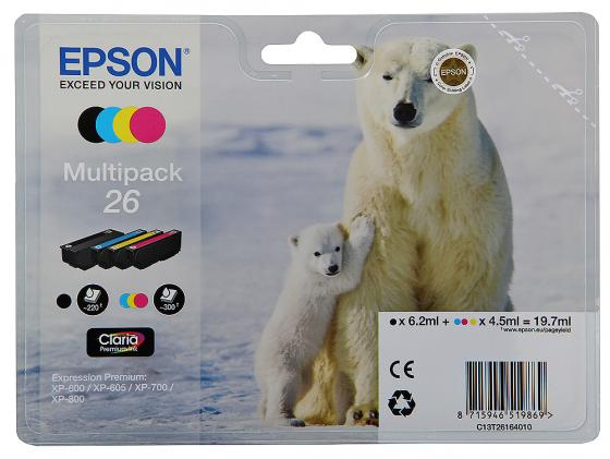 Набор картриджей Epson C13T26164010 MultiPack для XP-600 XP-700 XP-800 suitable for north america t2001 ciss chip for epson xp 200 xp 300 xp 400 xp 510 printer arc chip for epson t2001 t2004