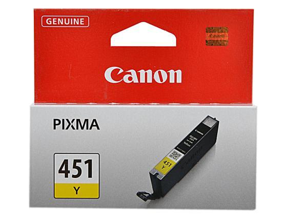 Фото - Картридж Canon CLI-451Y для iP7240 MG5440 желтый картридж canon cli 451y xl yellow для mg6340 mg5440 ip7240