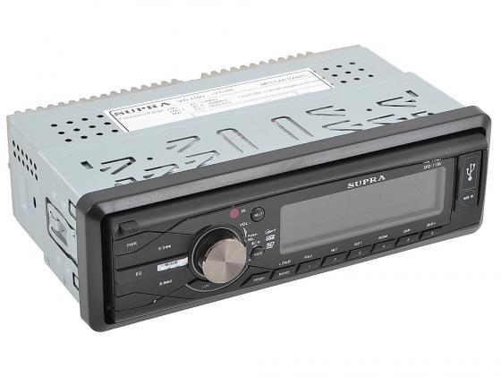Автомагнитола Supra SFD-110U USB MP3 SD MMC без CD-привода 1DIN 4x50Вт Черный  автомагнитола usb sd supra sfd 95u