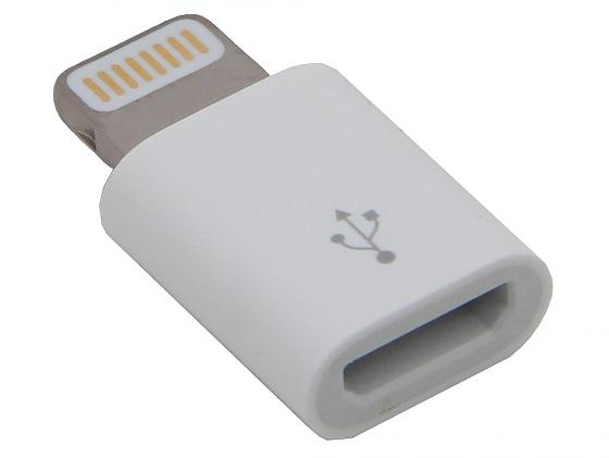 цена на Адаптер Lightning microUSB Apple MD820ZM/A белый