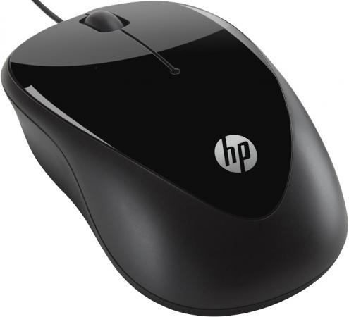 Мышь проводная HP X1000 чёрный USB H2C21AA