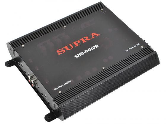 Усилитель звука Supra SBD-A4120 4-канальный 4х60Вт 4Ом усилитель supra sbd a4120 4 x