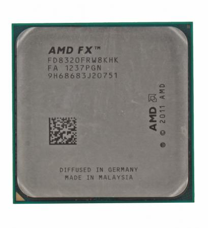 Процессор AMD X8 8320 3.5GHz 16Mb FD8320FRW8KHK Socket AM3+ OEM процессор amd fx x8 8320e fd832ewmhkbox 3 2ghz socket am3 box