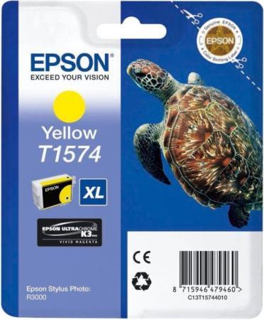 Картридж Epson C13T15744010 для Epson Stylus Photo R3000 желтый epson c13t03474010 grey