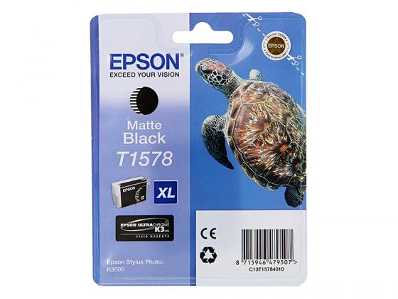 Картридж Epson C13T15784010 для Stylus Photo R3000 черный 850стр картридж epson t009402 для epson st photo 900 1270 1290 color 2 pack