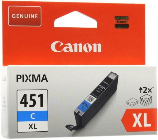 Картридж Canon CLI-451C XL для iP7240 MG5440 голубой повышенной емкости canon cli 451c голубой