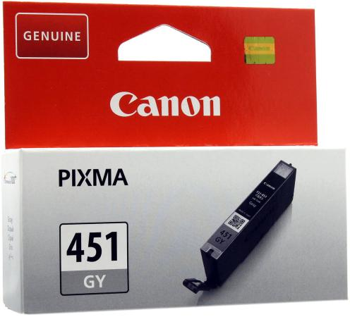 Картридж Canon CLI-451GY XL для iP7240 MG5440 MG6340 серый повышенной емкости cli 471bk xl