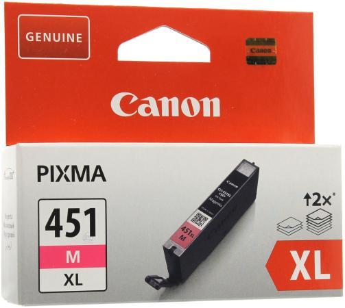 Картридж Canon CLI-451M XL для iP7240 MG5440 пурпурный повышенной емкости чернильница cli 451m xl 6474b001