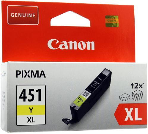 Картридж Canon CLI-451Y XL для PIXMA iP7240 MG6340 MG5440 желтый повышенной емкости картридж canon cli 451y xl yellow для mg6340 mg5440 ip7240